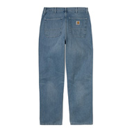 Simple Pant Blue Worn Bleached