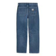 Simple Pant Blue Mid Worn Wash