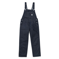 W' Bib Overall Straight Blue Rigid