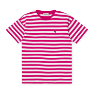 Stripe, Ruby Pink / White